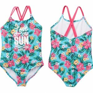 Nautica Floral One-piece Swimsuit UPF 50+ Size 2T